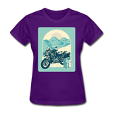 Motorcycle in the Mountains - Women's - purple
