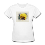 Yellow Pansy Watercolor - Women's - white