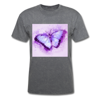 Purple and Blue Sketch Butterfly - Men's - mineral charcoal gray