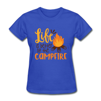 Life is Better Campfire - Women's - royal blue