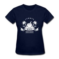 Summer Beach Holiday - Women's Tee - navy