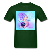 Capricorn Lady on Blue - Unisex - forest green