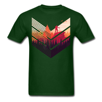 Geometric Hiking Pose - Men's - forest green