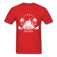 Summer Beach Holiday - Men's Tee - red