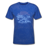 Palm Trees with Sky - Men's Tee - mineral royal