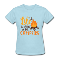 Life is Better Campfire - Women's - powder blue