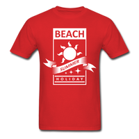 Beach Summer Holiday Design #2 - Men's Tee - red