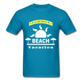Summer Beach Vacation - Men's Tee - turquoise