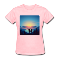 Backpackers at Sunset - Women's - pink