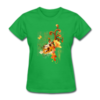 Swirls with Butterfly - Women's - bright green