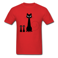 Black Cat Family - Men's - red