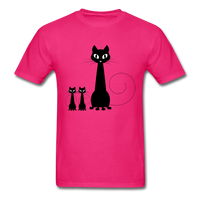 Black Cat Family - Men's - fuchsia