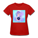 Pisces Lady on Blue - Women's - red
