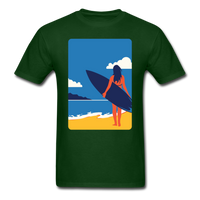 Lady with Surf Board - Unisex - forest green