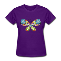 Patterned Butterfly - Women's - purple