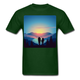 Backpackers at Sunset - Unisex - forest green