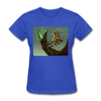 Elf on a Dragon - Women's - royal blue
