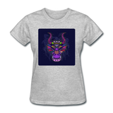 Colorful Dragon Face 2 - Women's - heather gray