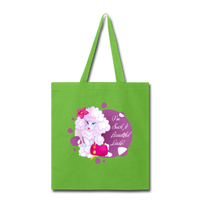 Beautiful Lady Poodle - Tote - lime green