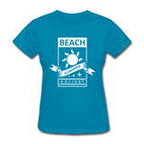 Beach Summer Holiday Design #2 - Women's Tee - turquoise
