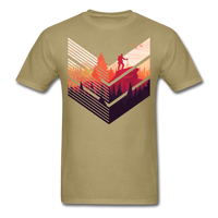 Geometric Hiking Pose - Men's - khaki