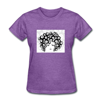Woman with Curls - Woman's - purple heather