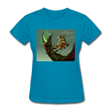 Elf on a Dragon - Women's - turquoise