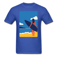Lady with Surf Board - Unisex - royal blue