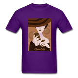 A Chocolate Eating Classy Lady - Men's - purple