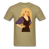 Blonde Lady in Lovely Dress - Men's - khaki