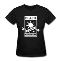 Beach Summer Holiday Design #2 - Women's Tee - black