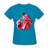 Lady Dancing in Red Dress - Women's - turquoise