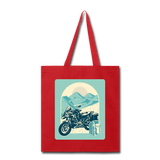 Motorcycle in the Mountains - Tote - red