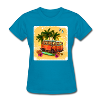 VW Bus Surfing - Women's - turquoise