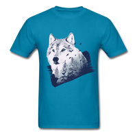 Wolf in the Forest - Men's - turquoise
