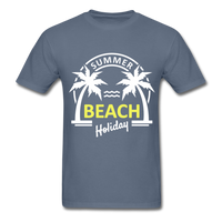 Summer Beach Holiday Design #3 - Men's Tee - denim