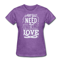 All You Need is Love - Women's - purple heather
