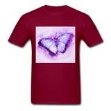 Purple and Blue Sketch Butterfly - Men's - burgundy
