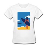 Lady with Surf Board - Women's - white