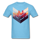 Geometric Hiking Pose - Men's - aquatic blue