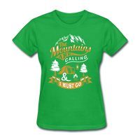 Mountains Calling Yellow - Women's - bright green