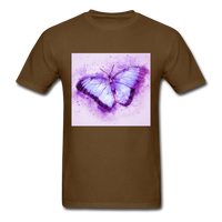 Purple and Blue Sketch Butterfly - Men's - brown