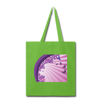 Sun Rays and Butterflies - Tote - lime green