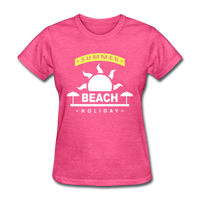 Summer Beach Holiday Design #4 - Women's Tee - heather pink