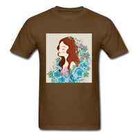 Beautiful Woman with Flowers - Men's - brown