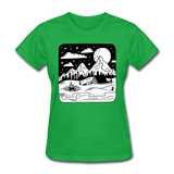 Peaceful Campsite - Women's - bright green
