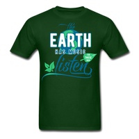 The Earth Has Music - Men's Tee - forest green