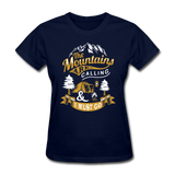 Mountains Calling Yellow - Women's - navy