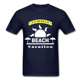 Summer Beach Vacation - Men's Tee - navy