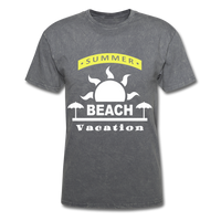 Summer Beach Vacation - Men's Tee - mineral charcoal gray